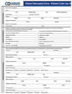 caggiano orthodontics child new patient form